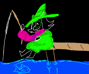ralsei fishing
