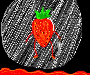 evil strawberry kills us all