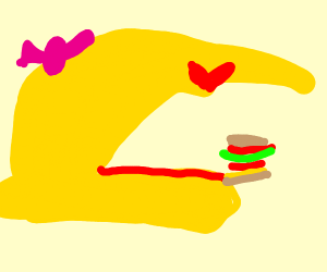 fat women likes burgers