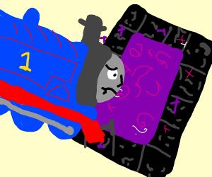train flies into nether portal