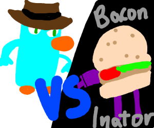 perry the platapus vs the baconinator