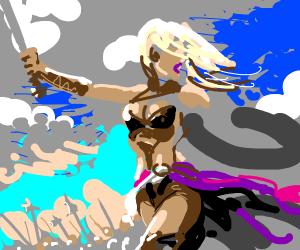 blonde leader