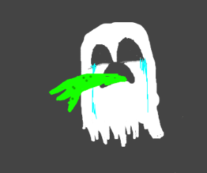 Ghost crying and vomiting