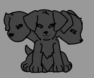 Three headed dog!