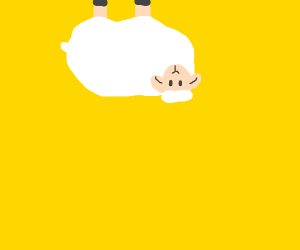 Sheep hanging upside down