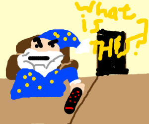 A wizard has trouble with Tv remote