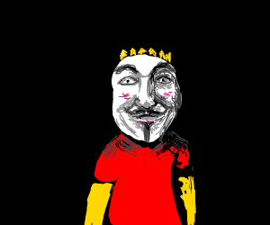 bart simpson in an anonymous mask