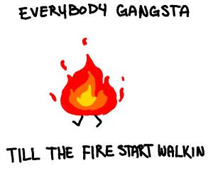 walking fire
