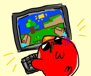 Angry Bird playing Minecraft