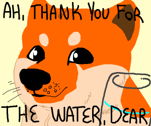 Ah, thank you for the water dear (doge)