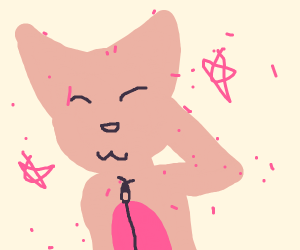 One sparkly furry