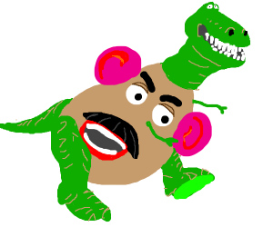 Dinosaur potato