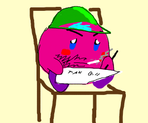 Kirby does his taxes