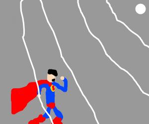 weak superman on a wifi symbol