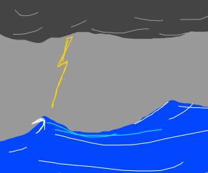 Big storm over the Ocean