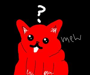 suprised red cat
