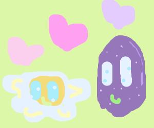 Delicious eggs in love