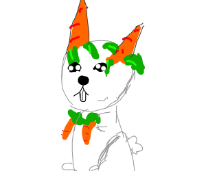 Rabbit w/ carrots for hands and ears