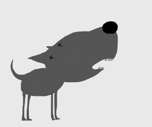 Dog with no eyes