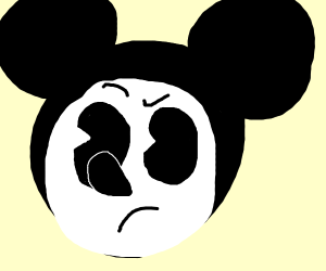 Confused Mickey Mouse