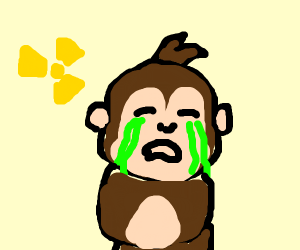 curious George crying out nuclear waste