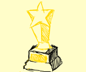 Star trophy for black smithery