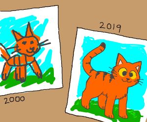2000 art compared to 2019 art