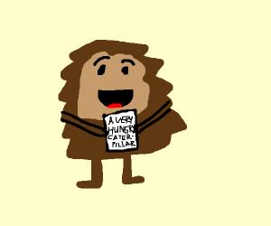 taz from looney toones hugging a kids book