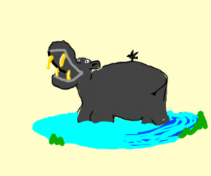 Hippo With Fangs