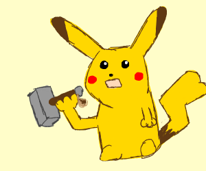 Pikachu is worthy of Thor's hammer