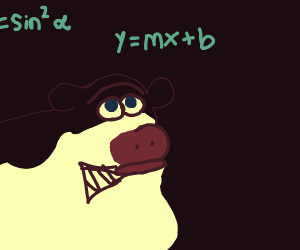 cow learning how to do math