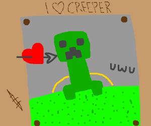 guy loves creeper