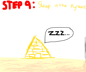 step 8: build a comfortable home in a pyramid