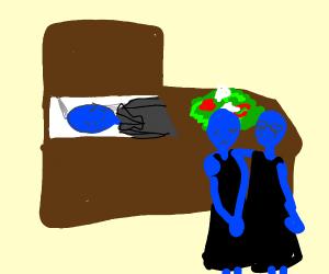 Blue Man Funeral