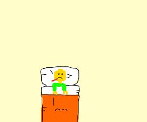 Sick lego man