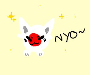 cat saying nyo
