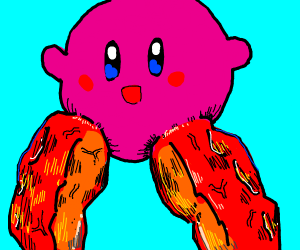 kirby with T H I C C L E G S