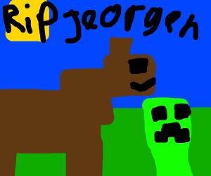 Rip Minecraft horse