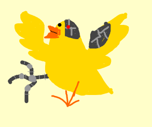 Cyborg baby chicken