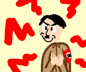 Evilly content hitler