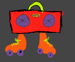 Roller skating boombox