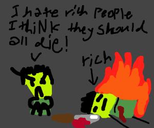 Man wants to kill rich pwople