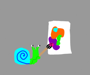 snail paints