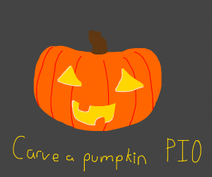 Throw the pumpkin PIO (pass it along?)
