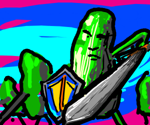 Pickles with swords