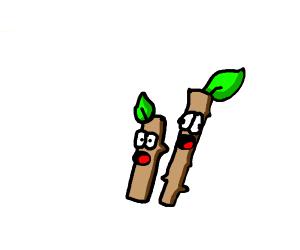 Baffled sticks