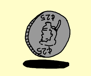 Upside down Coin