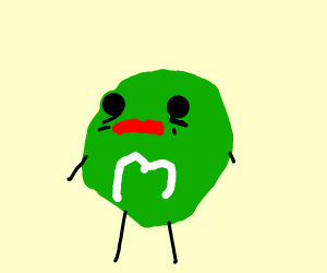 green m&m has seen some serious sht