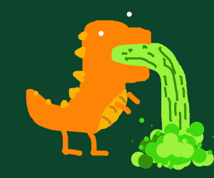 Dinosaur Vomits Radioactive Waste