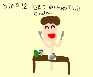 Step 11: easter more like eater